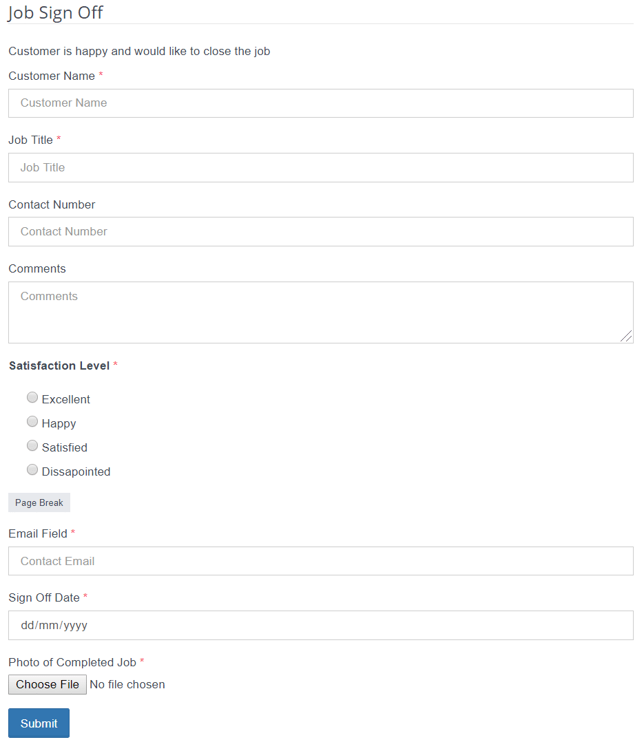 Custom Form