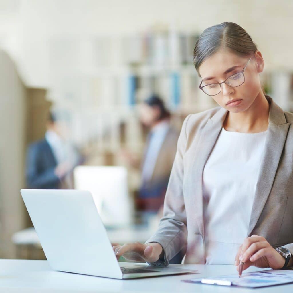 Female accountant at work